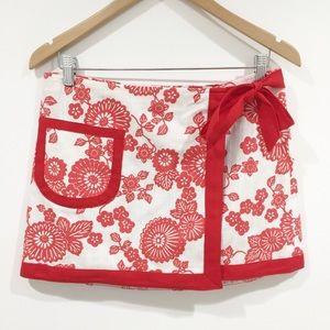 Nanette Lepore floral side tie wrap mini skirt